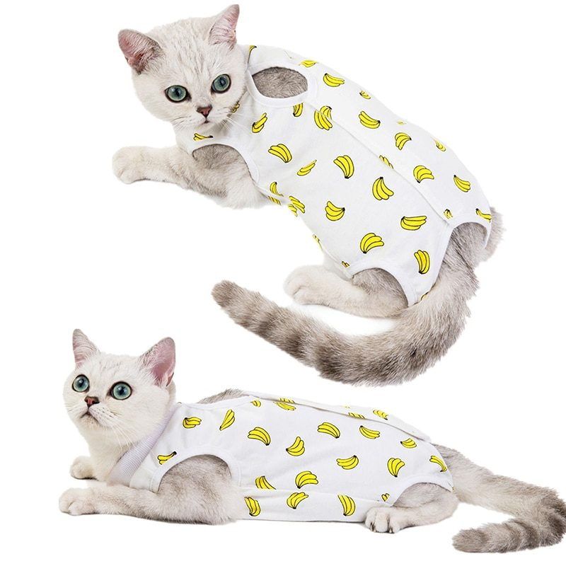 Spring Summer Cat Sterilization Suit Anti-licking Surgery After Recovery Pet Care Clothes Breathable Cats Weaning Suit