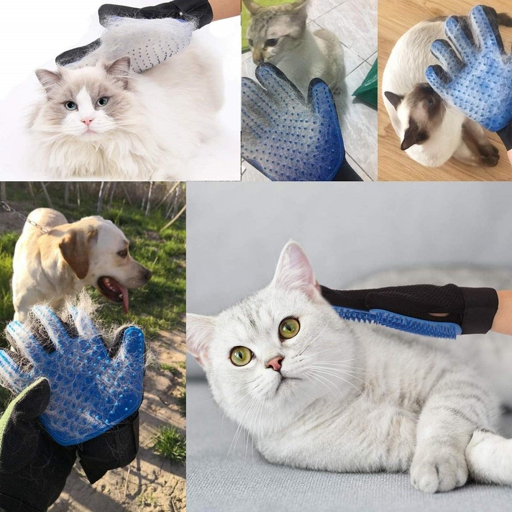 Cat Glove Cat Grooming Glove Pet Brush Glove for Cat Dog Hair Remove Brush Dog Deshedding Cleaning Combs Massage Gloves