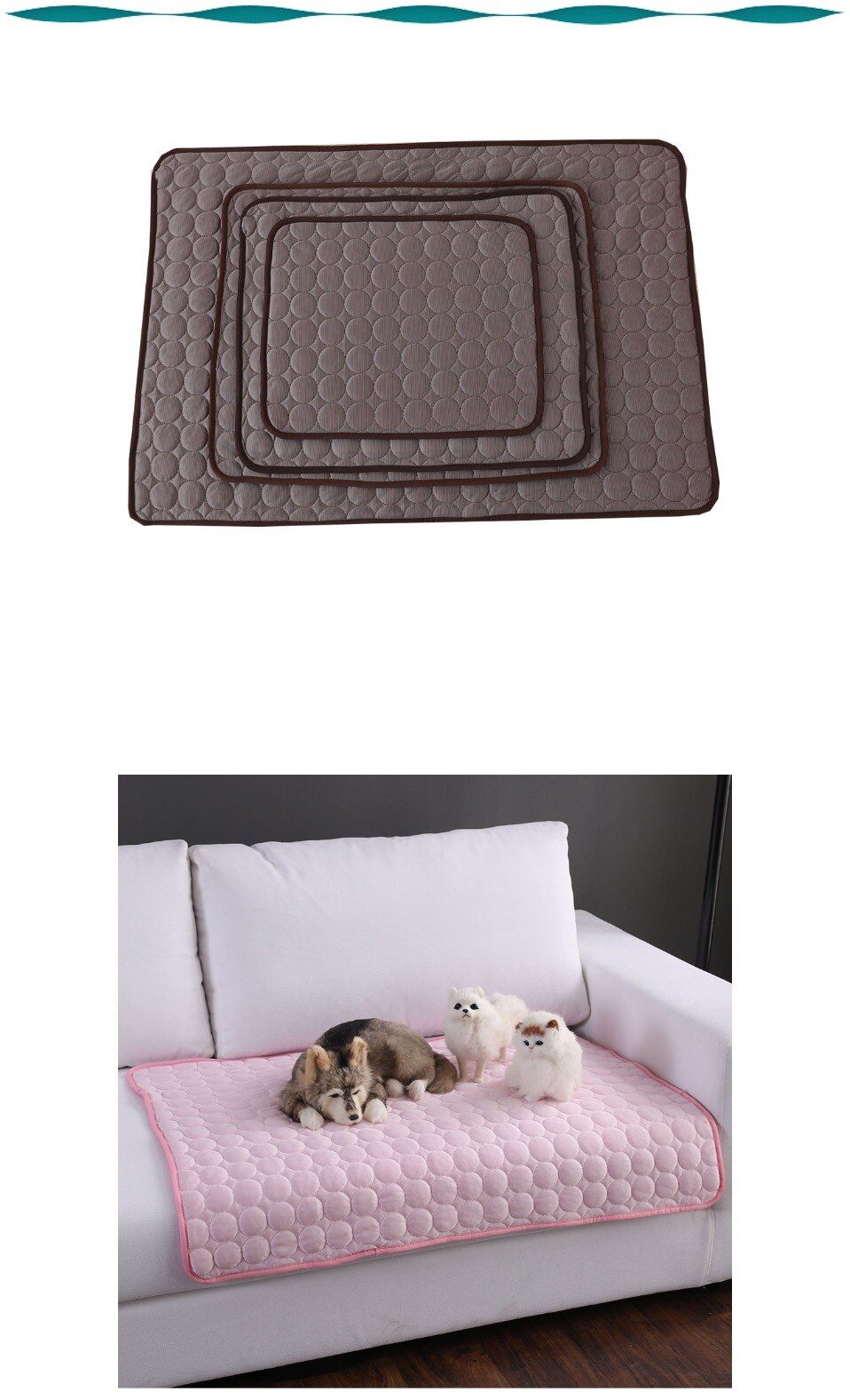 Dog Cooling Mat Washable Summer Cooling Pad Mat for Dogs Cat Breathable Pet Dog Bed Dogs Car Seat Cover Small Dog House