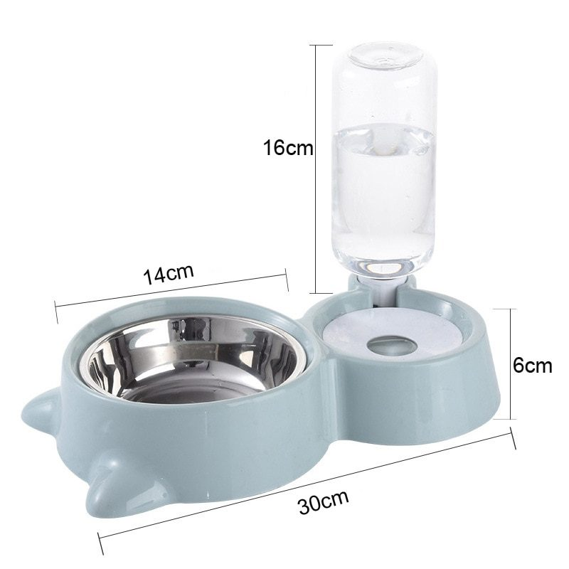 Pet Dog Cat Bowl Fountain Automatic Food Water Feeder Container Dispenser For Dogs Cats Drinking High Quality Pet Products 2020