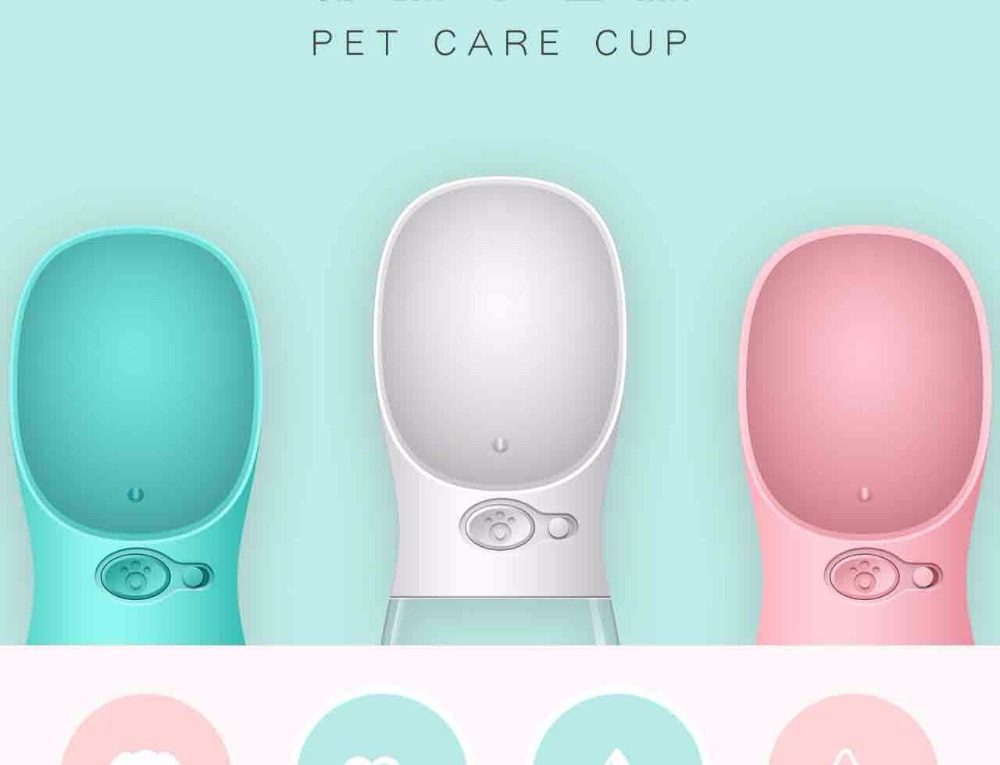 Pet Dog Water Bottle Portable Bottle for Small Medium Large Dog Leakage-proof Dogs Water Bottle Outdoor Water Bowl Pet Products
