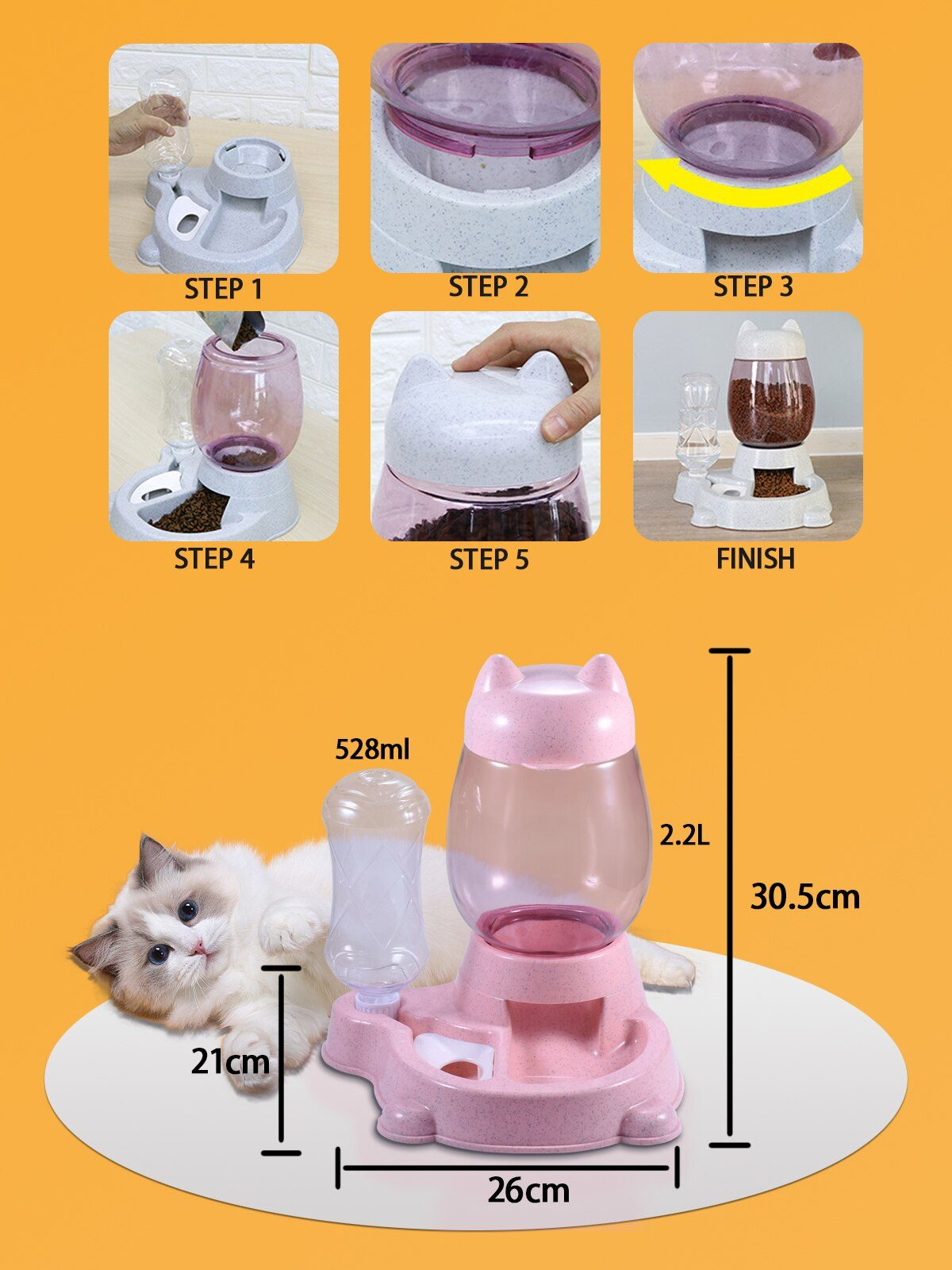 Pet Dog Cat Bowl Fountain Automatic Water Food Feeder Dispenser Container For Cats Dogs Drinking Eating Products Supplies