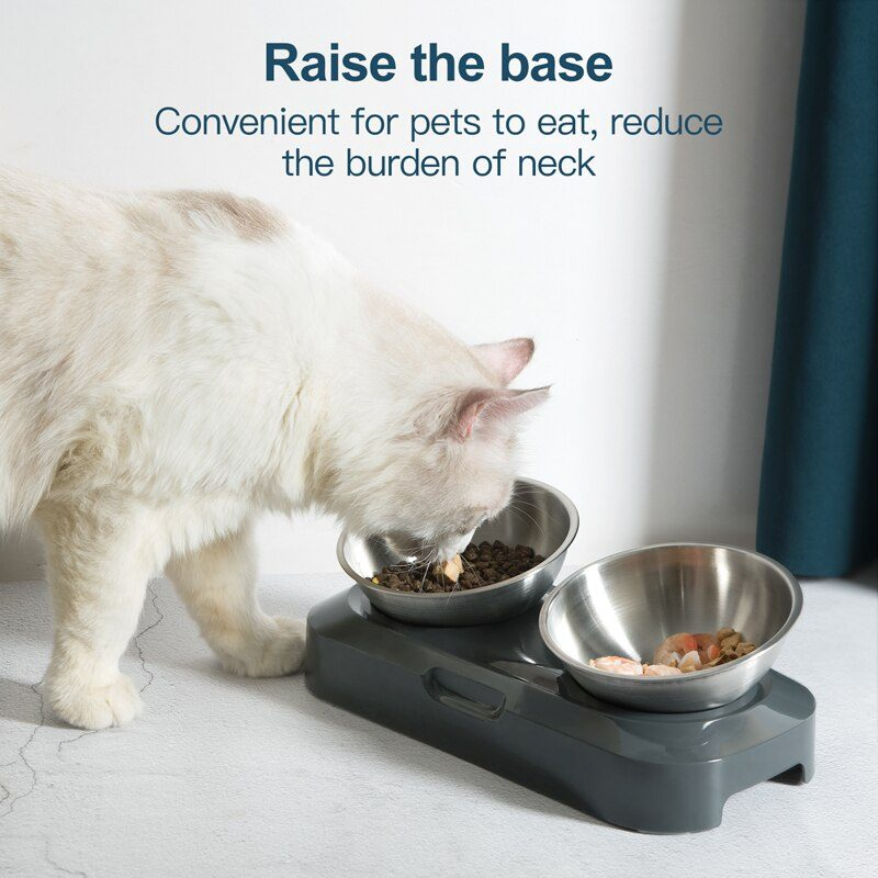 Cat Food Bowl Whisker Friendly Stainless Steel Non Skid Dishwasher Safe May Also Prevent Acne The Original Whisker Relief