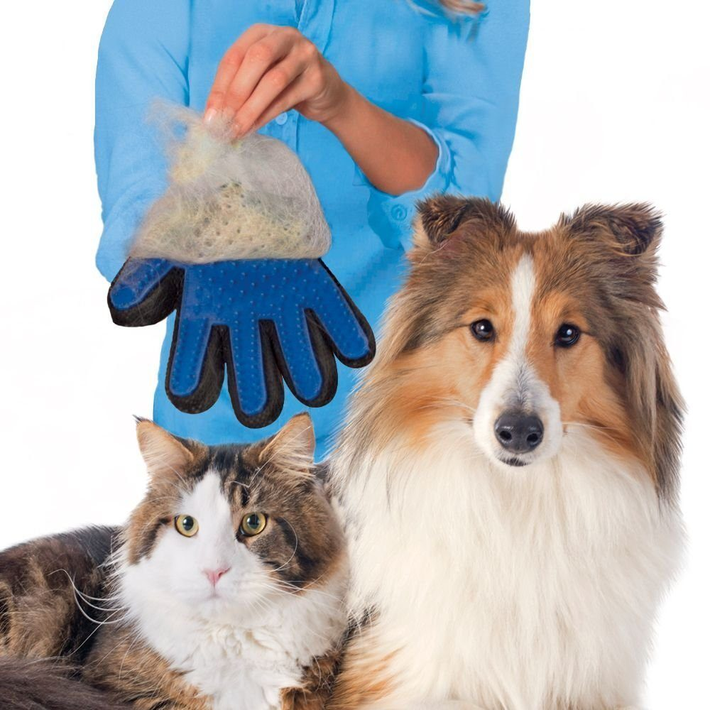 Pet grooming glove for dogs wool glove Pet Hair Deshedding Brush Comb Glove For Pet Cat Cleaning Massage Glove For Animal Sale
