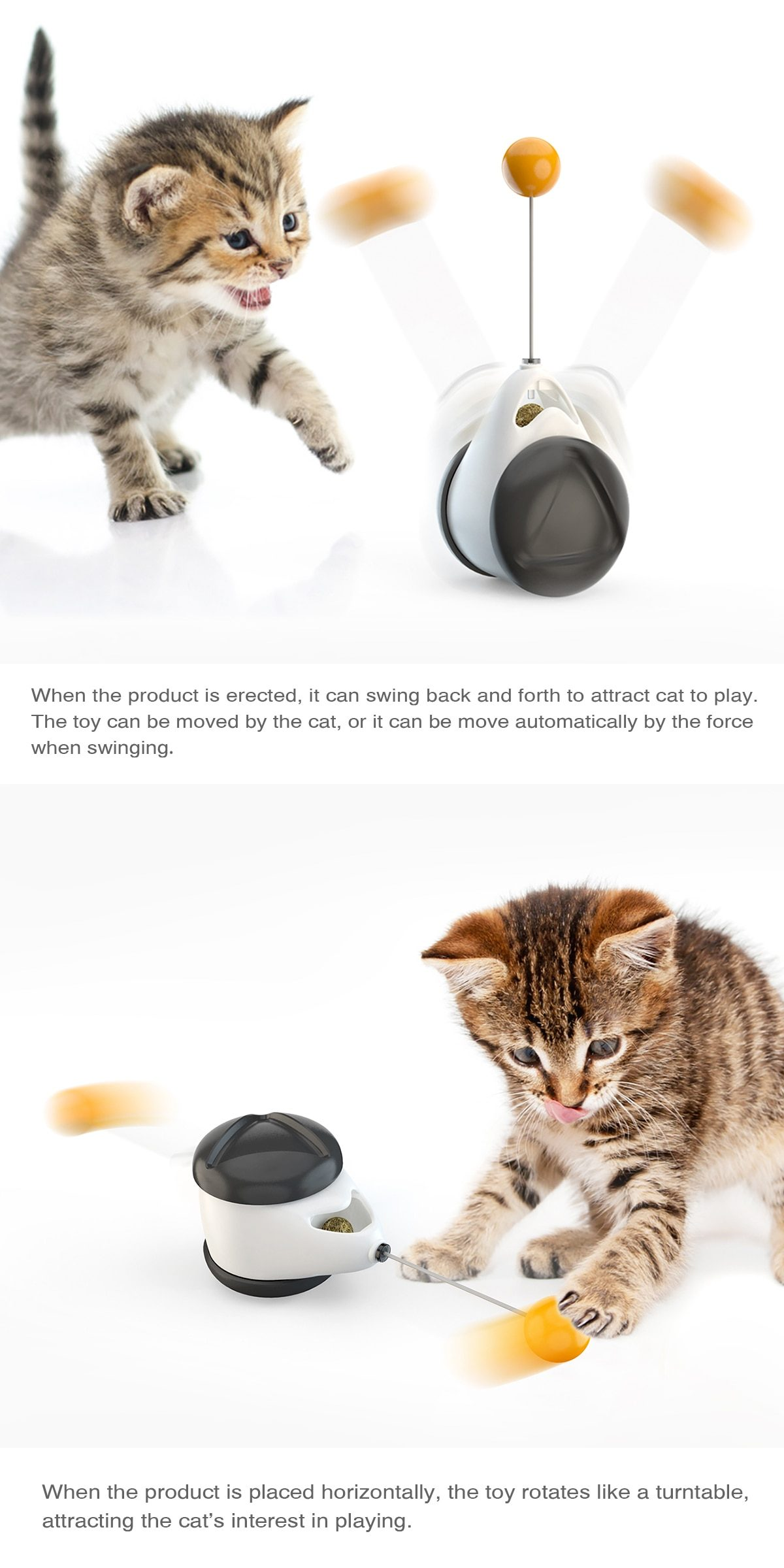 Pet Dog Cat Toy Tumbler With Catnip For Kitten Playing Training Entertainment IQ Improvement High Quality Pet Products Supplies