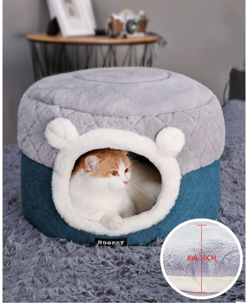 Cat Bed House Soft Plush Kennel Puppy Cushion Small Dogs Cats Nest Winter Warm Sleeping Pet Dog Bed Pet Mat Supplies