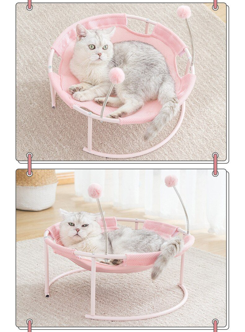 Cat Bed Dog Bed Pet Hammock Bed Free-Standing  Whole Wash Stable Structure Detachable Excellent Breathability Sunmmer and Winter