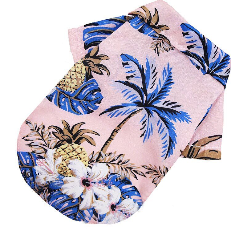 Dog Shirts Clothes Summer Beach Clothes Vest Pet Clothing Floral T-Shirt Hawaiian For Small Large Dog Chihuahua Cat clothes