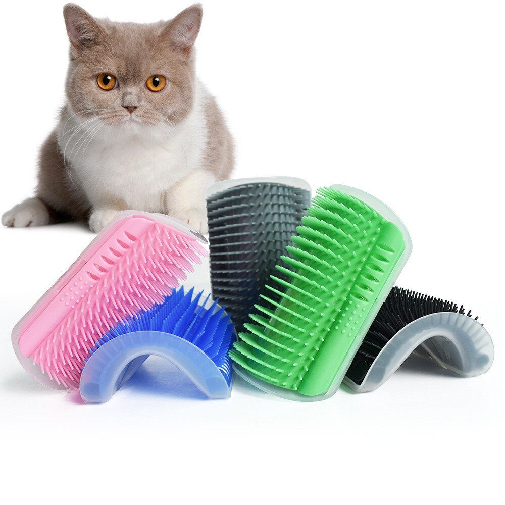 Cats Brush Corner Cat Massage Self Groomer Comb Brush With Catnip Cat Rubs The Face With Tickling Comb for pets