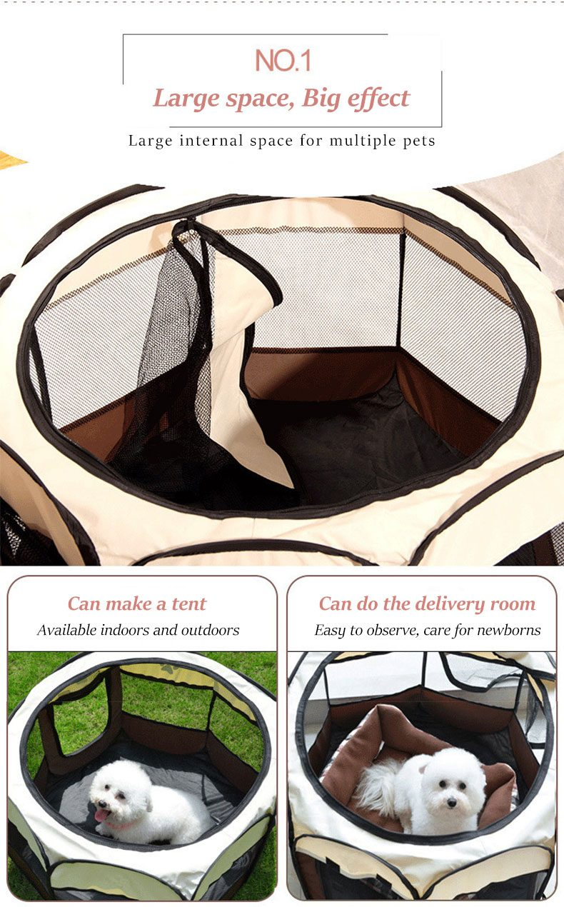 Outdoor Pet Tent Houses Portable Kennels Fences For Large Small Dogs Foldable Indoor Playpen Puppy Cats Cage Delivery Room