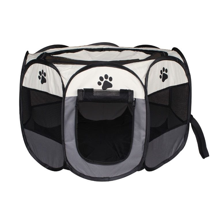 Pet Cage Portable Pet Tent Folding Dog House Cage Cat Tent Playpen Puppy Kennel Easy Operation Octagonal Fence Large Dogs House