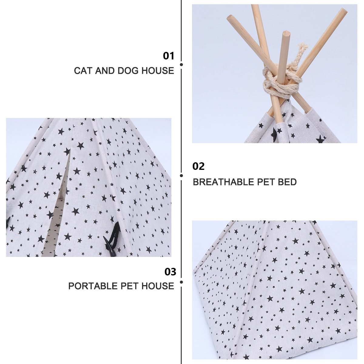 Little Dove Cute Washable Pet houses Pet Tent Dog Kennel Cat Cage for Little Animals Pets Tent Washable Breathable Cage