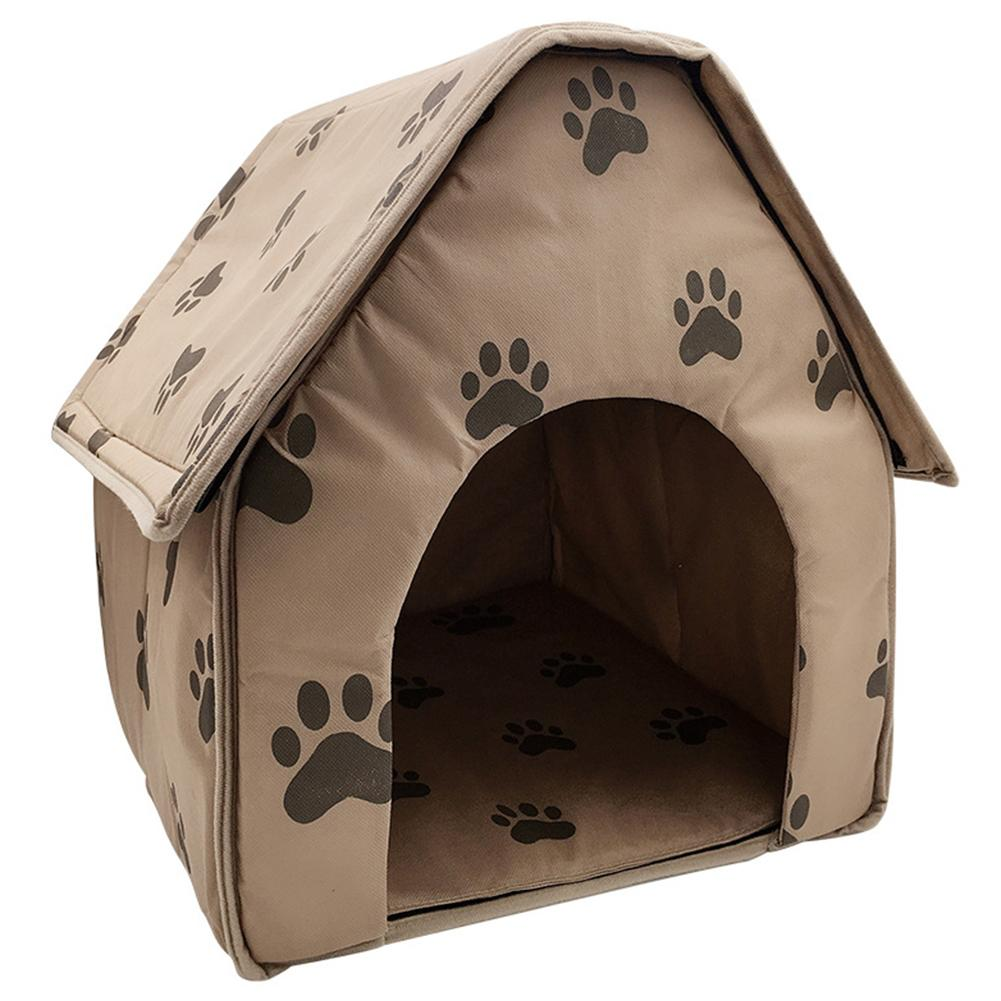 Portable Dog House Foldable Winter Pet Bed Nest Tent Cat Puppy Kennel Outdoor Portable Travel Convenient Supplies