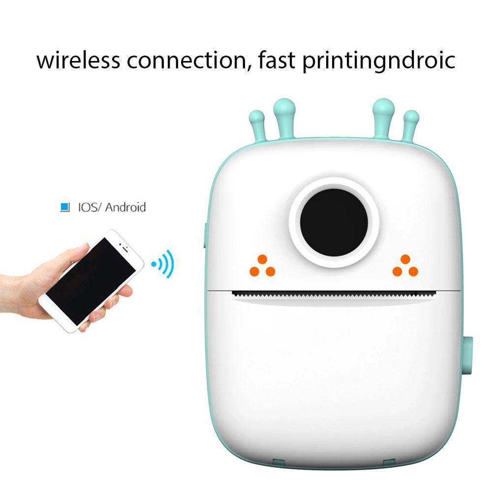 Portable Printer Wireless Bluetooth Mini Printer for Phone Android iOS Receipt Memo Picture Photo Label List, with Thermal Paper