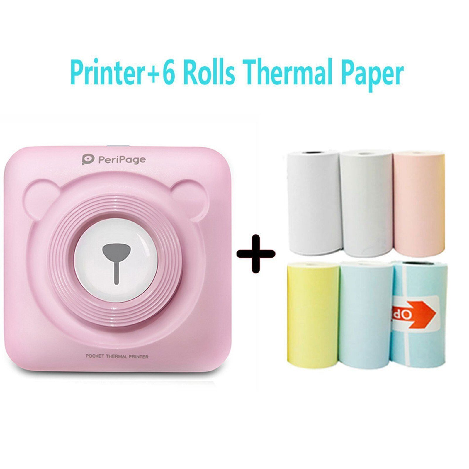 Mini Portable Label Printer Pocket Mobile Thermal Bluetooth 58mm Mini Wireless POS Thermal Photo Printer for Android iOS Phone