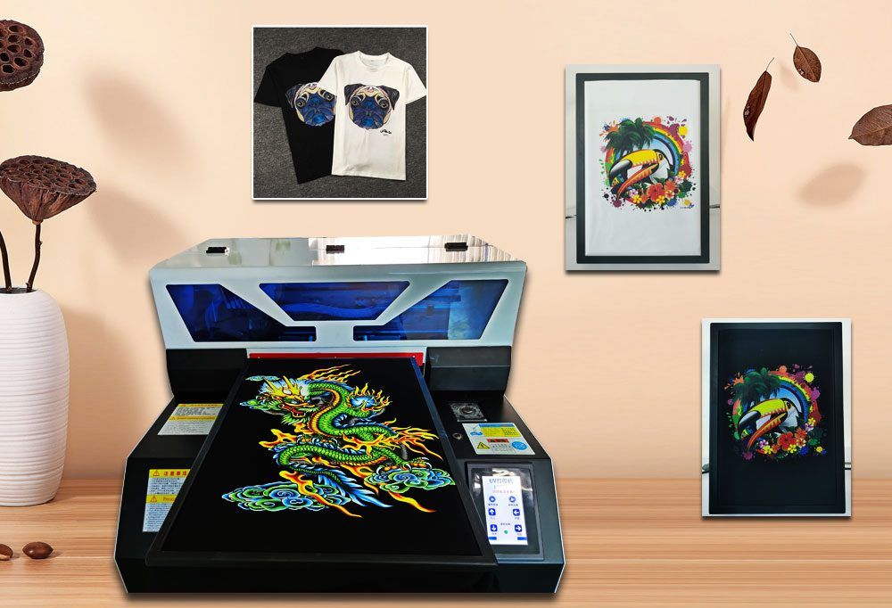 Procolored Multifunction LED Flatbed UV Printer A3 with Ink Automatic DTG Print Phone Case Wood Photo Tshirt Printing Machine A4