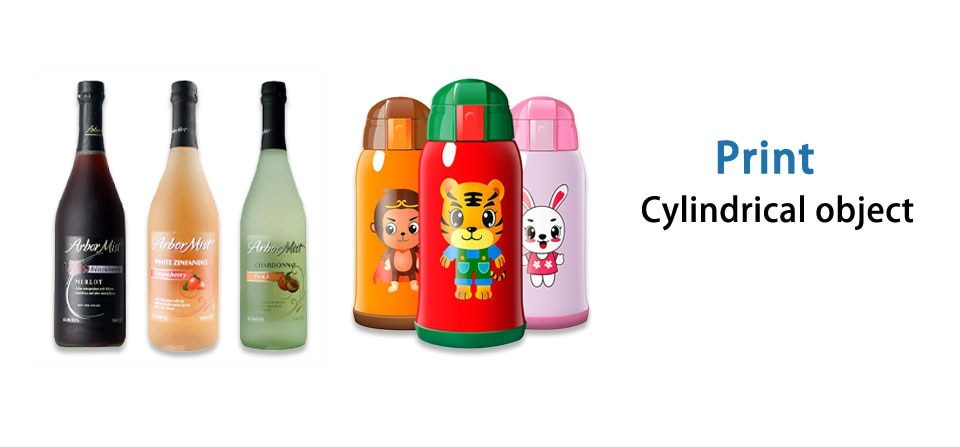 For mobile phone case/glass bottle/glass/leather/logo/photo color printing A3 large format 2-in-1 inkjet printer