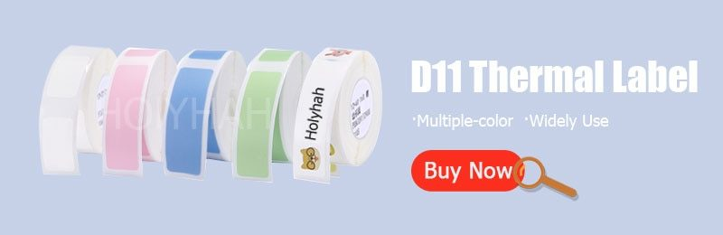 Niimbot D11 Wireless label printer Portable Pocket Label Printer Bluetooth Thermal Label Printer Fast Printing Home Use Office P